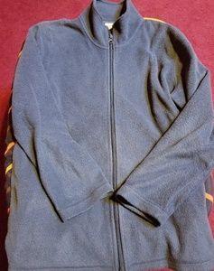 Cabin Creek Womens Navy Fleece Zip-up Jacket